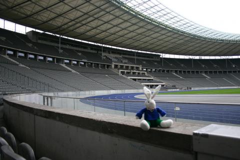 Chase in the Olympic Stadium Berlin